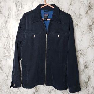 Patagonia Men's Navy Corduroy Full zip jacket S